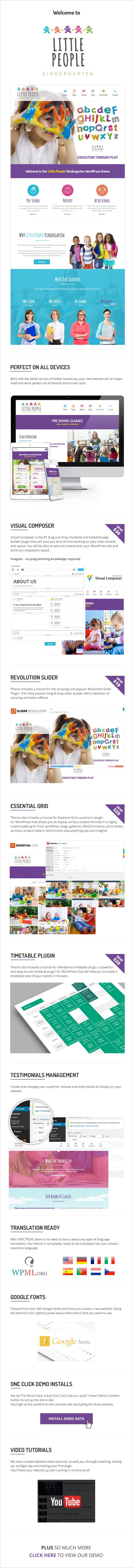 الناس الصغار |  Kindergarten WordPress Theme for PreScool والرضع ودور الحضانة ومدرسة اللعب - 3