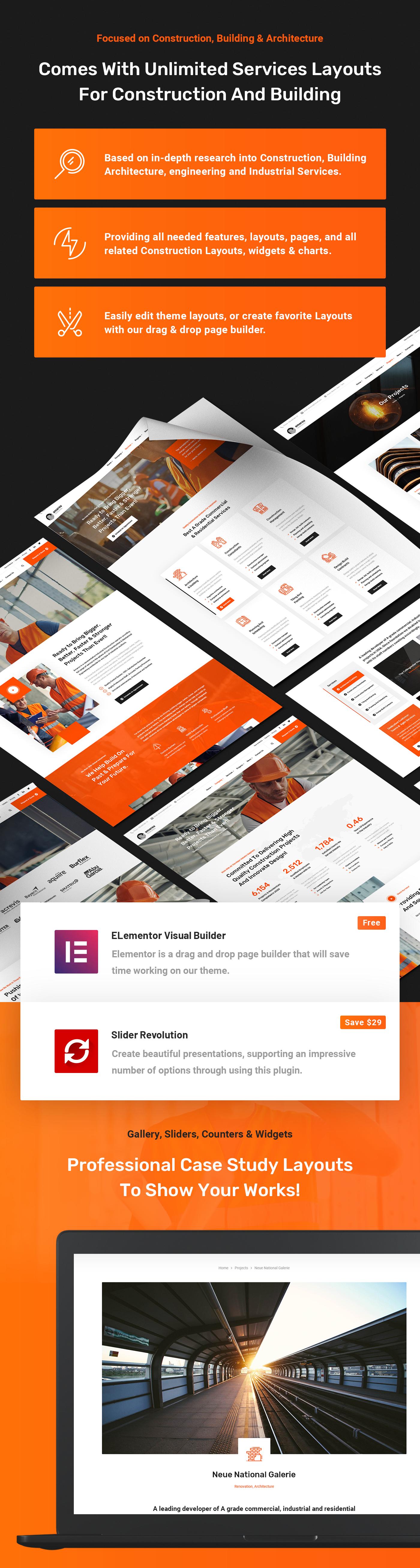 Amarou - Construction, Building & Architecture Business WordPress Theme - 3