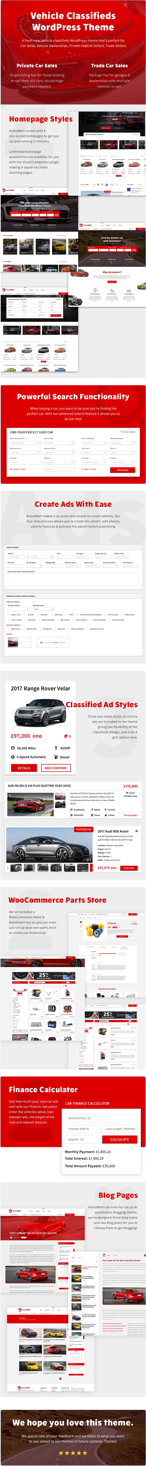 AutosMart - Automotive Car Dealer, Classifieds WordPress Theme