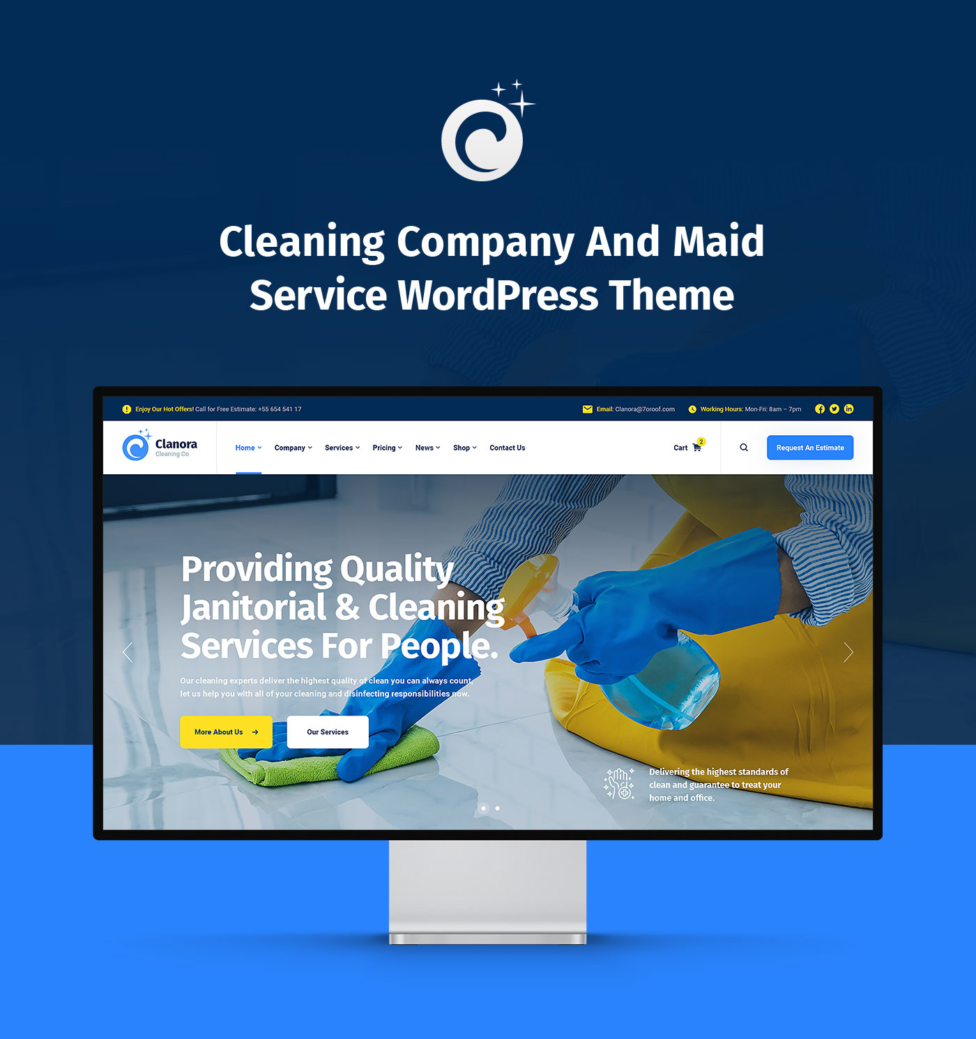 Clanora - Cleaning Services WordPress Theme - 4