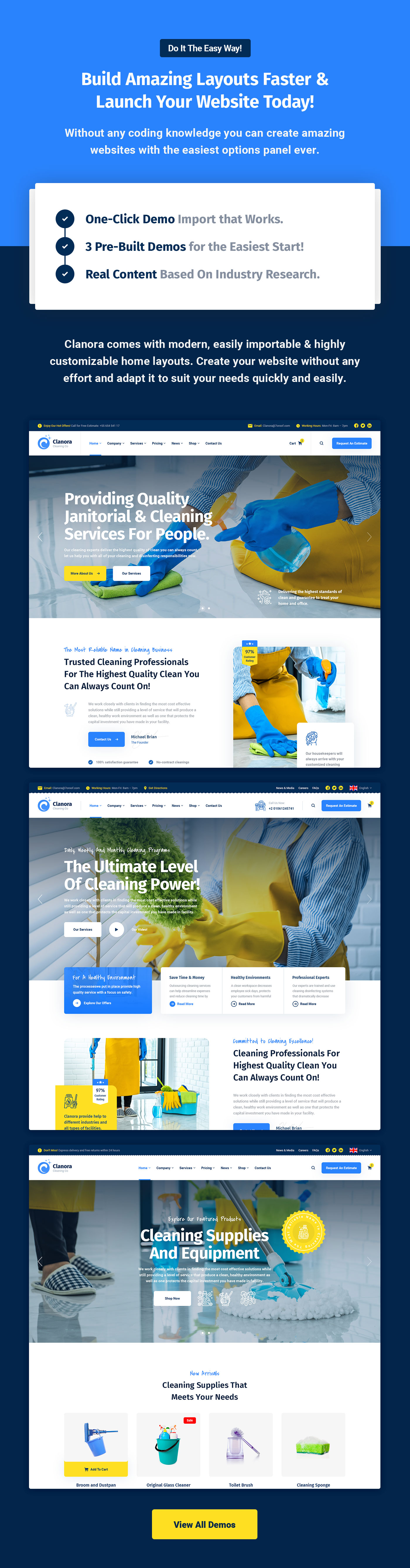 Clanora - Cleaning Services WordPress Theme - 5