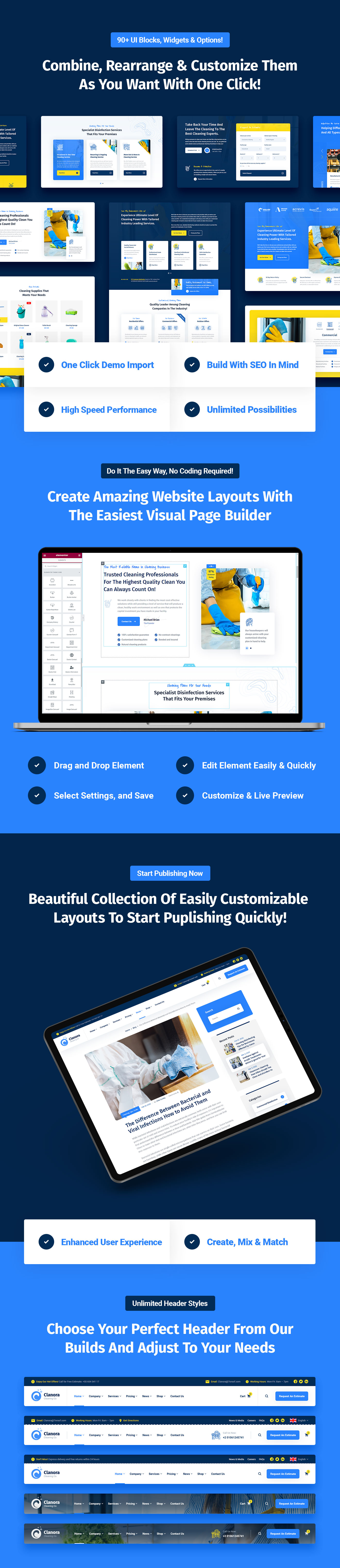 Clanora - Cleaning Services WordPress Theme - 7