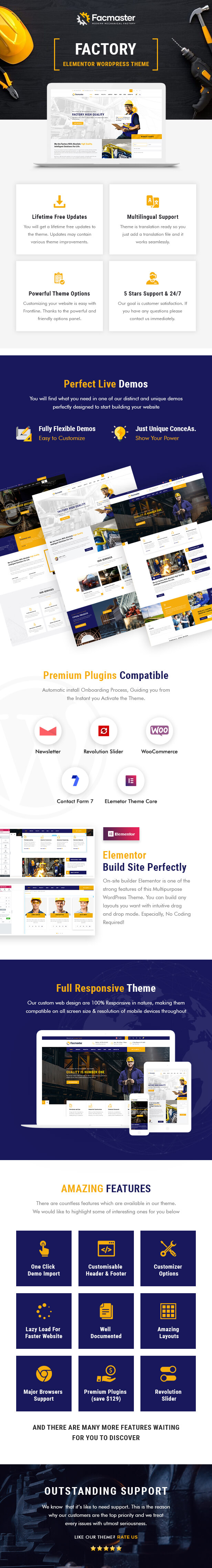 Facmaster - Factory and Industrial WordPress Theme - 1