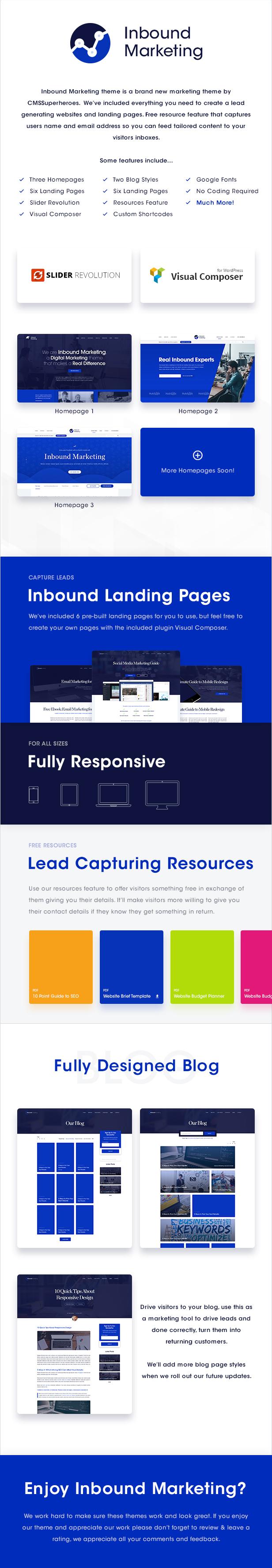 Inbound Marketing | Marketing, Inbound, Landing Page WordPress Theme