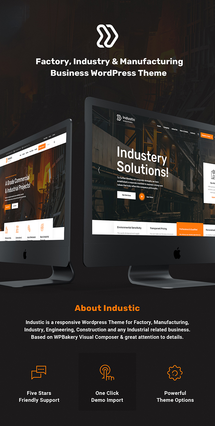 Industic - Industry and Manufacturing WordPress Theme - 1