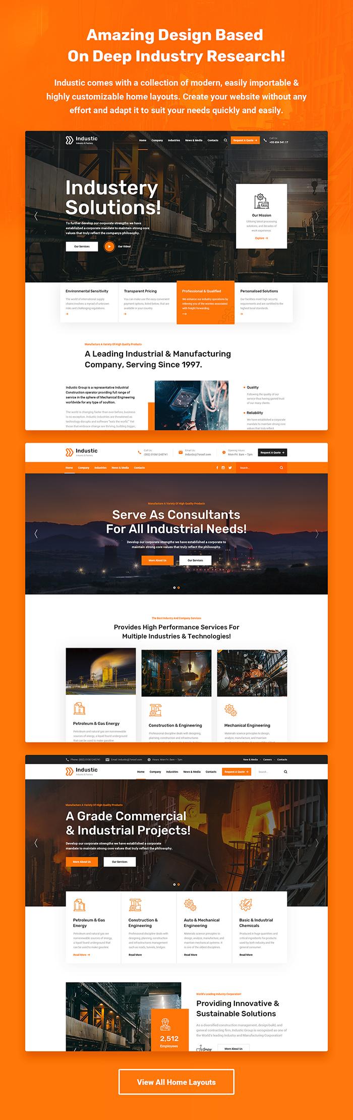 Industic - Thèmes WordPress pour l'usine et la production - 2