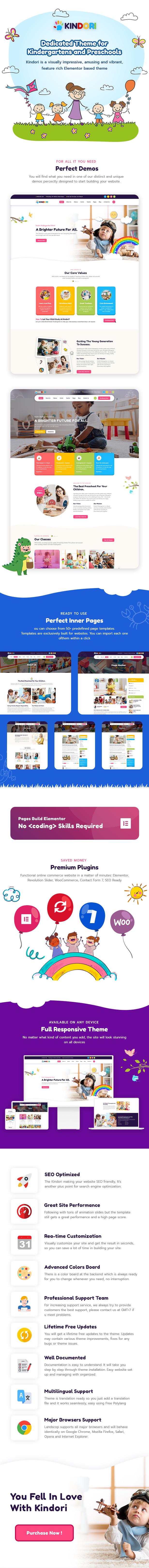Kindori - School Kindergarten WordPress Theme - 1