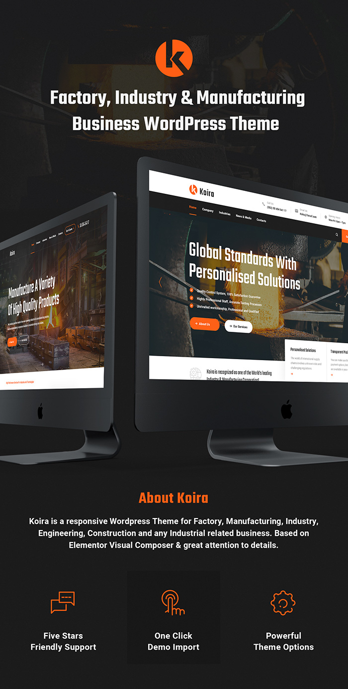 Koira - Industry and Manufacturing WordPress Theme - 1