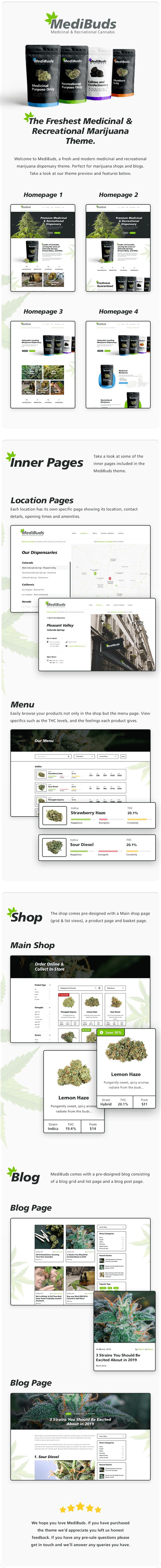 Medibuds - Medical Marijuana Dispensary WordPress Theme - 1