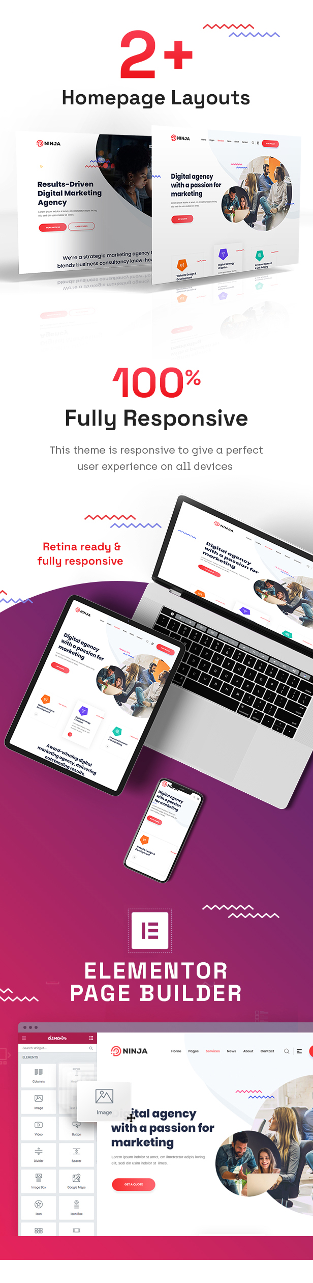 Ninja - SEO & Digital Marketing WordPress Theme - 2
