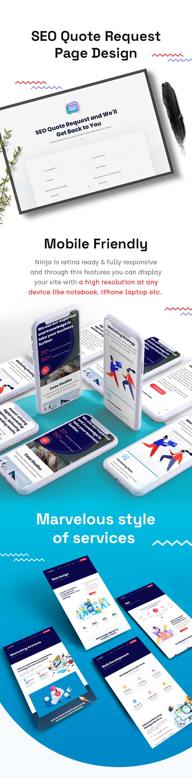 Ninja - SEO & Digital Marketing WordPress Theme - 3