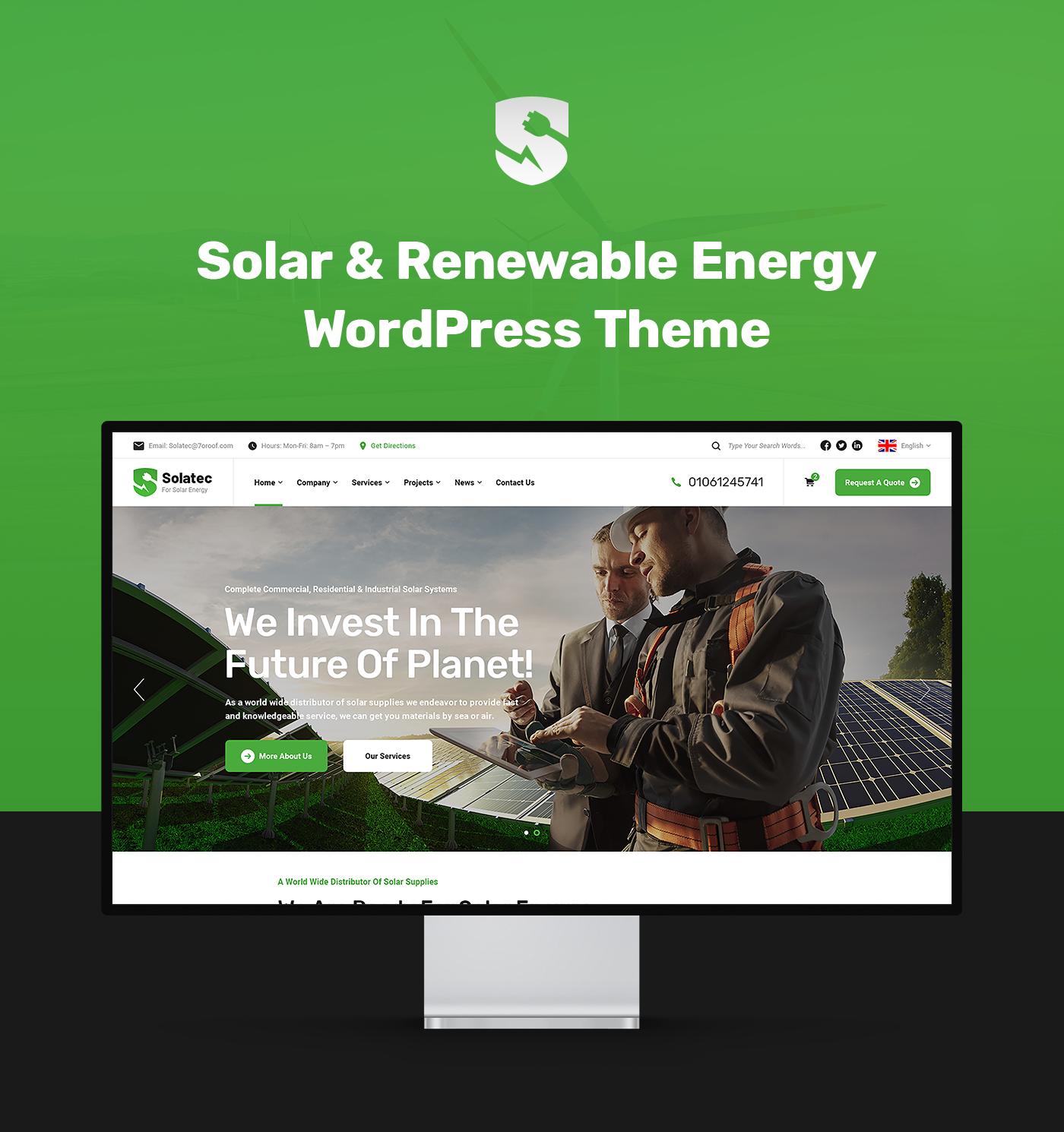 Solatec - Ecology & Solar Energy WordPress Theme - 1
