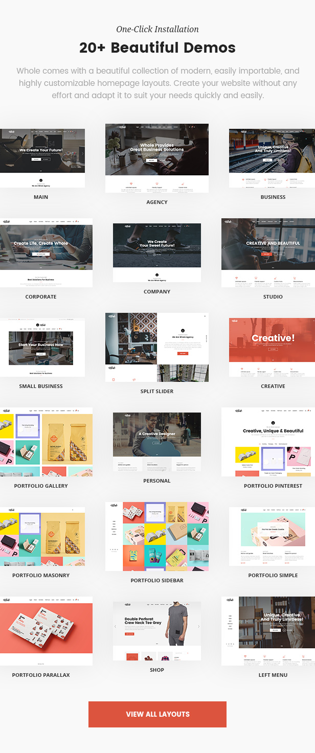 Whole - Creative Multi-Purpose WordPress Theme (Business) Whole - Creative Multi-Purpose WordPress Theme (Business) wholewp2