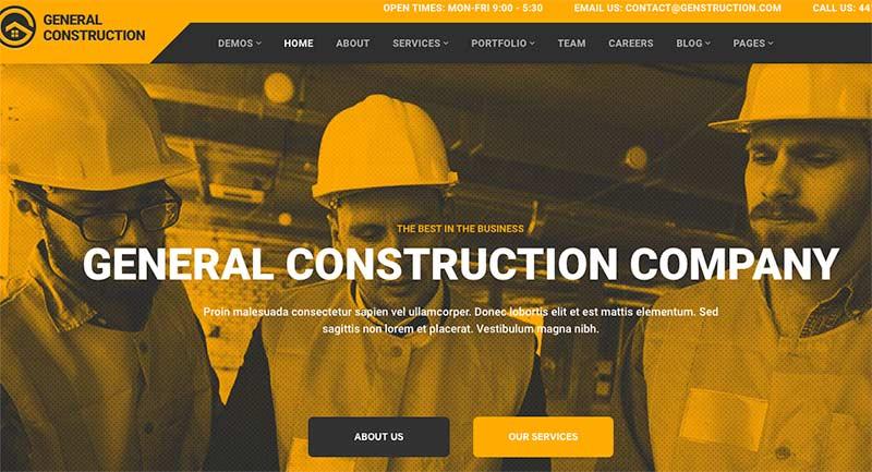 Construction WordPress themes
