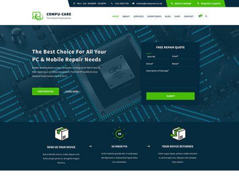 Compu-Care | Computer & Mobile Repair WordPress Theme
