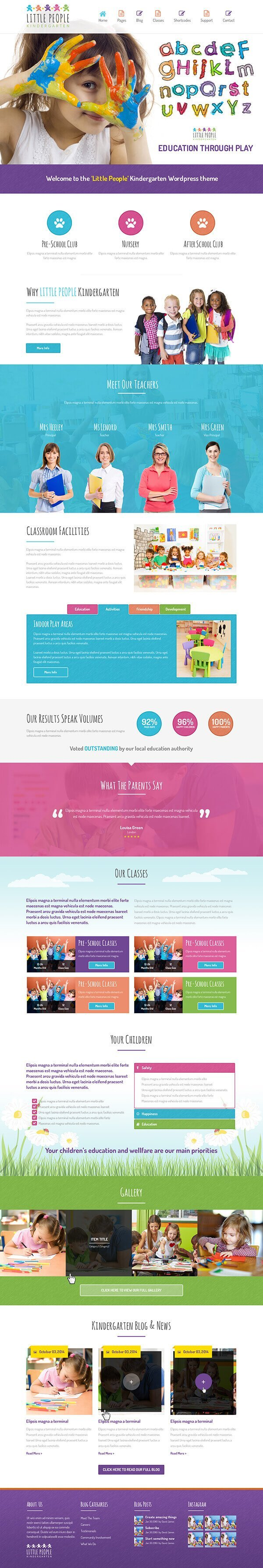 Little People | Kindergarten WordPress Theme