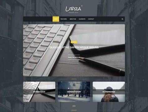 Libra | Personal Blog WordPress Theme