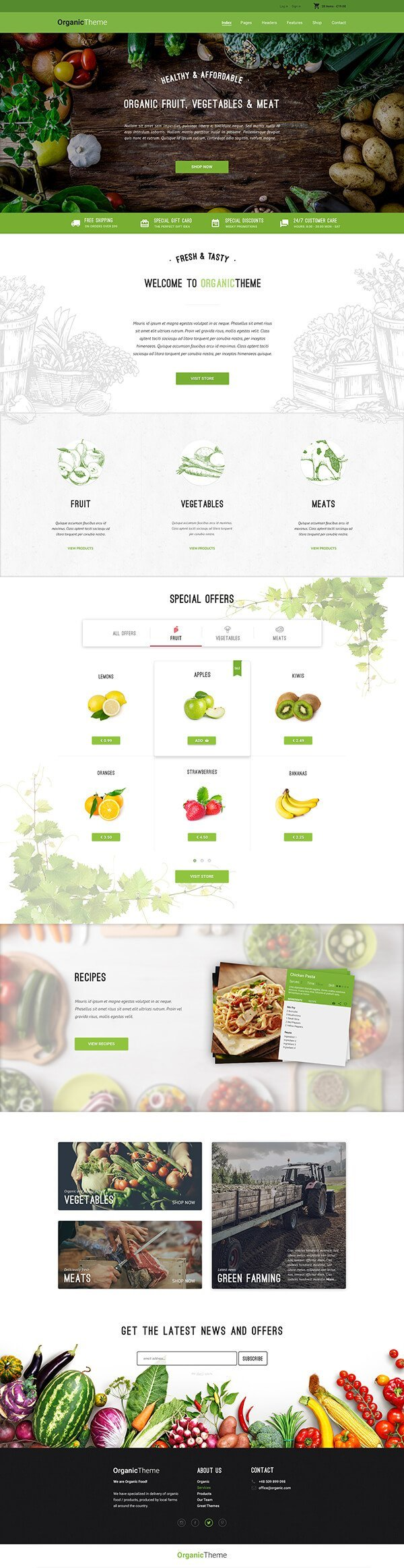 ORGANIC | Organic Farm Food WordPress Theme