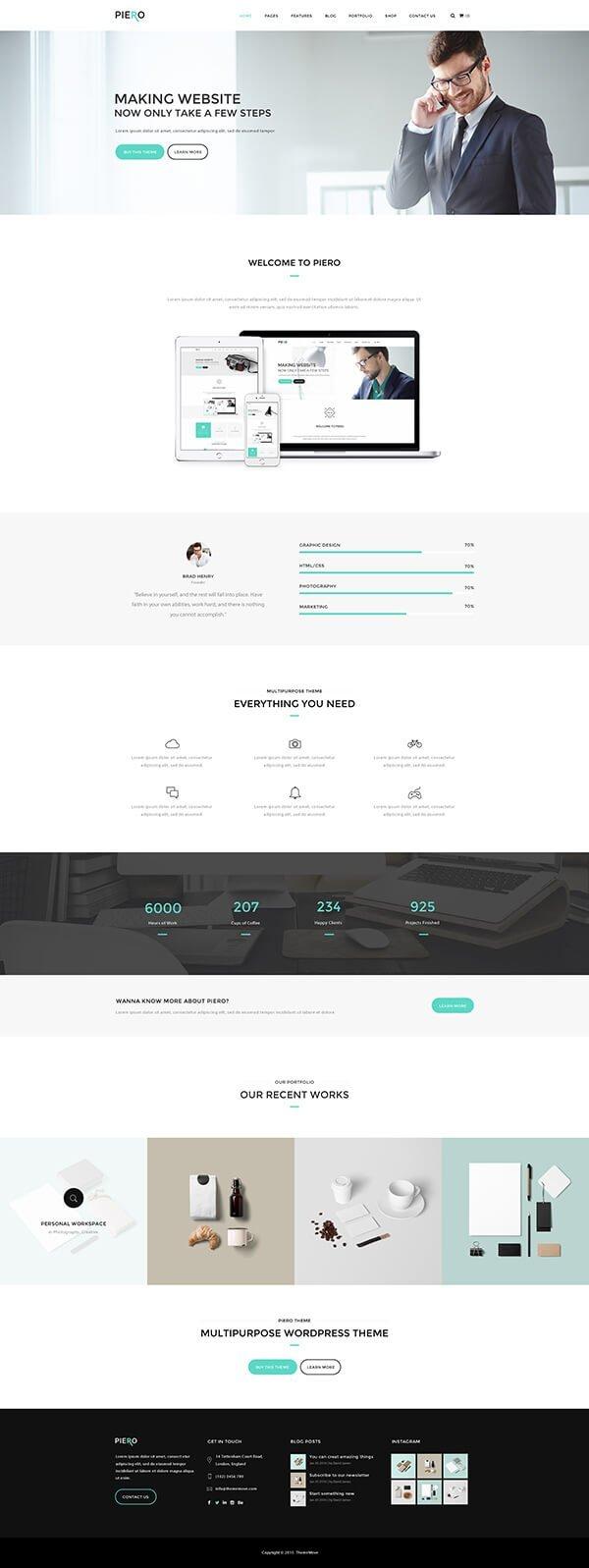 PIERO   Clean, Modern, Multi-Use Wordpress Theme