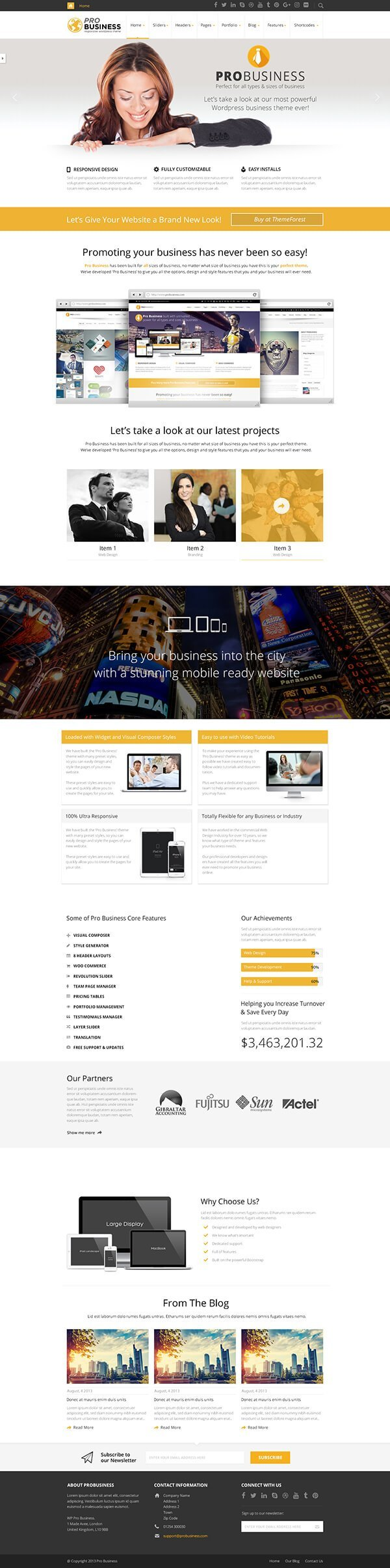 PRO Business WordPress Theme
