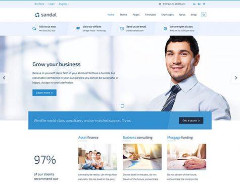 Sandal | Finance & Consultancy Business WordPress Theme