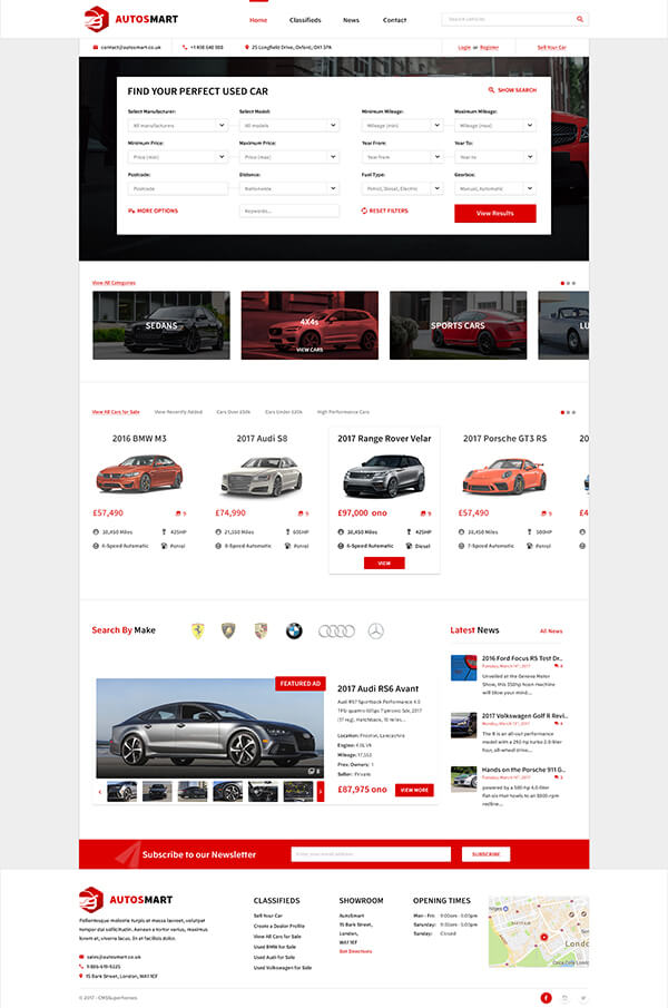 AutosMart | Automotive Car Dealer WordPress Theme