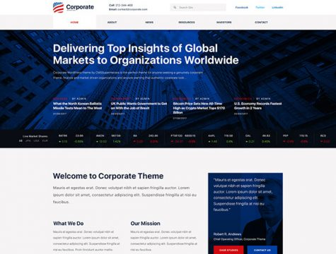 Axxum | Business & Company WordPress Theme