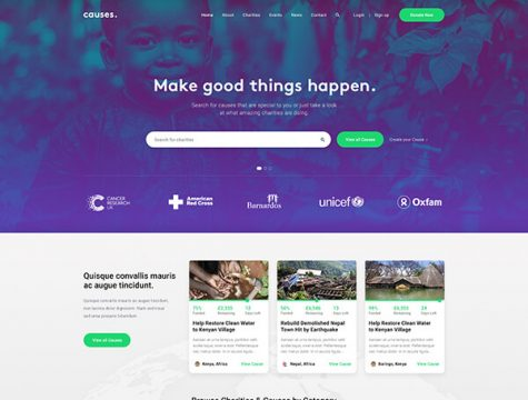 JustGive | Charity & Fundraising WordPress Theme