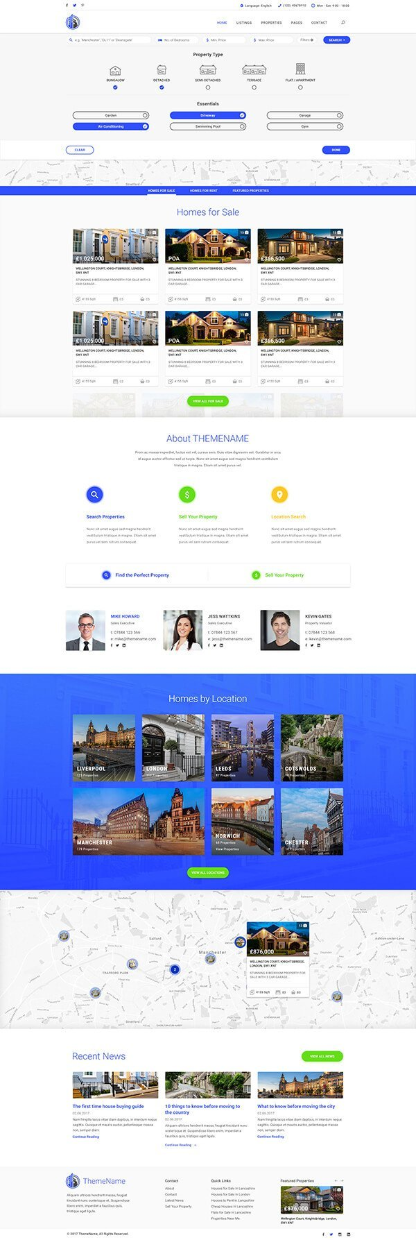Primemove | Real Estate Property WordPress Theme