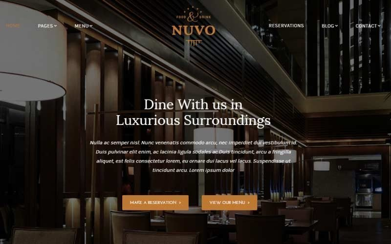 Cafe & Restaurant WordPress Themes